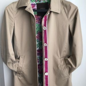 Coach Trench Coat Floral Lining
